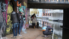 Urban art and water at Regents Canal proving great for photos