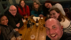 After a long day, a well deserved refreshment!  What a fabulous inaugural walk with such wonderful people!
