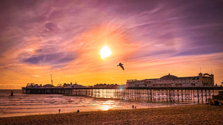 Palace Pier at sunset