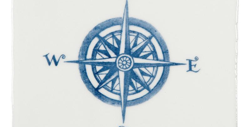 Compass Blue on Papyrus