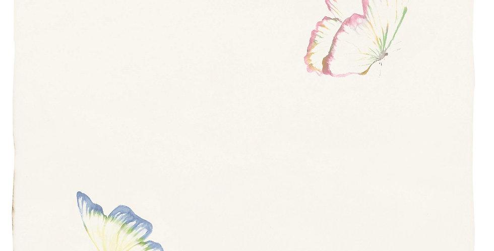 Pandora White & Azure Angel Pastel on Papyrus