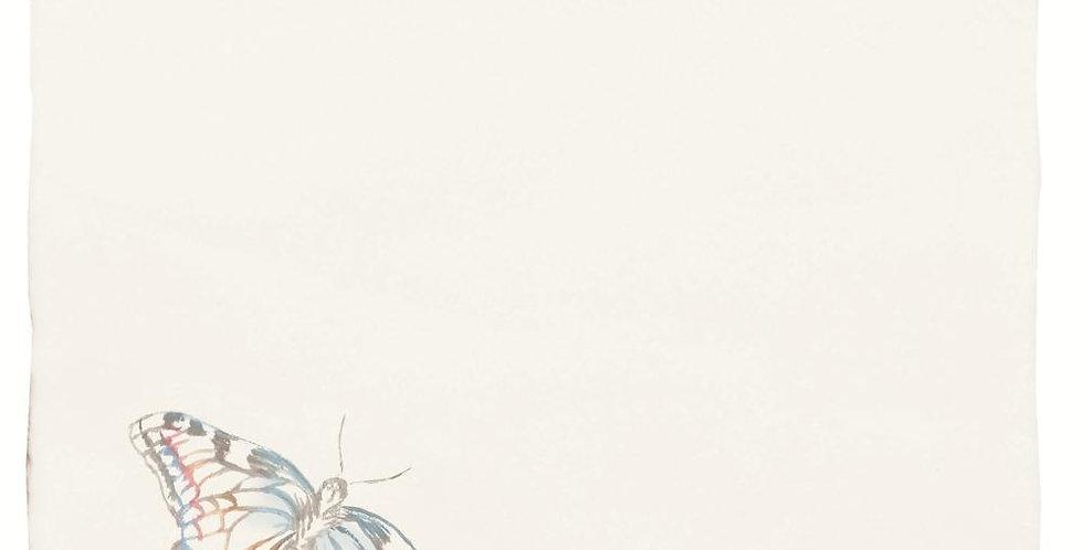 Indigo Swallowtail Pastel on Papyrus