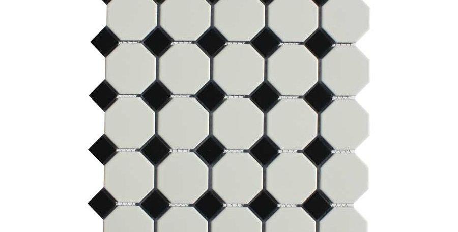 Shapes Black / White Oct & Dot