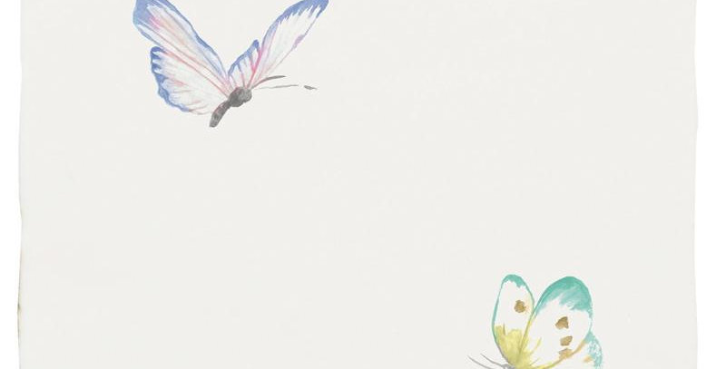 Lavender Sprite & Emerald Siren Pastel on Papyrus