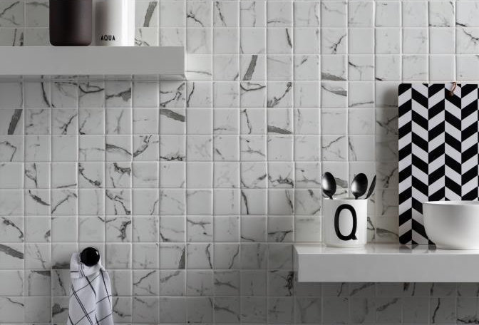 Torcello White Mosaic Recycled Glass