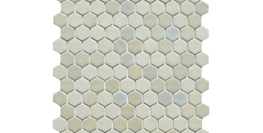 Hexagon Stone-Opal White Blend