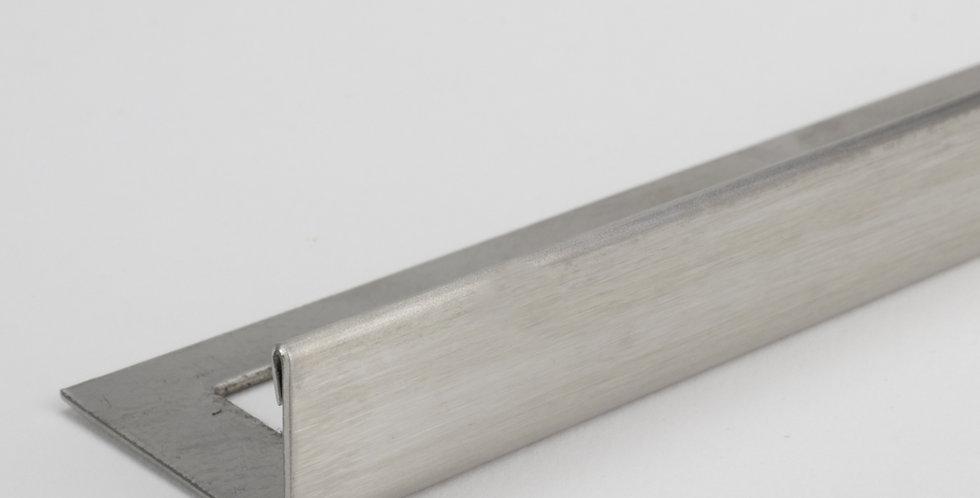 L Shape Brushed Silver Trim