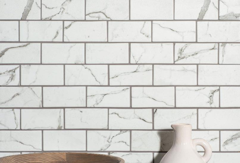 Torcello White Brickbond Recycled Glass