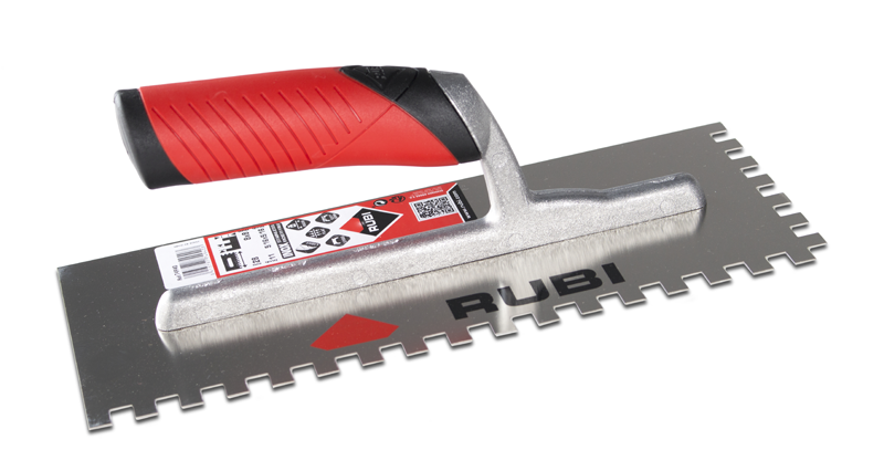 Rubi Stainless Steel Trowel Softgrip 10mm X10mm 74941