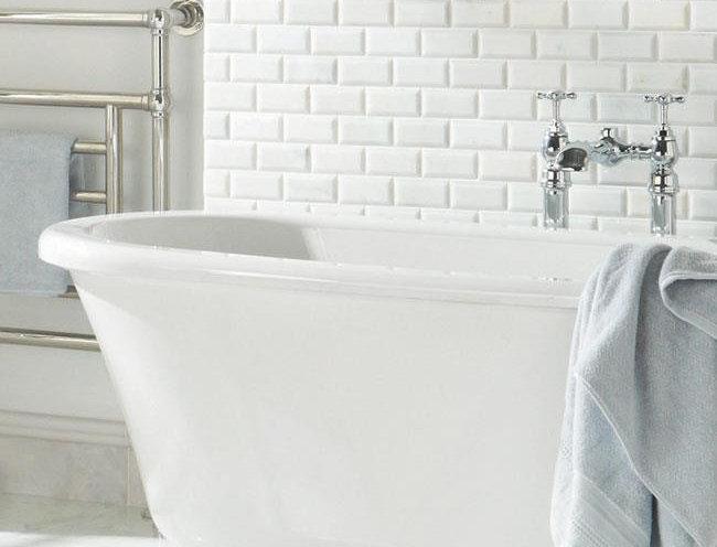 Viano White Polished Bevel Brickbond Mosaic