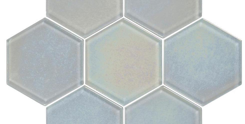 Futura Dichroic Hexagon Mosaic Textured Hexagon Mosaic