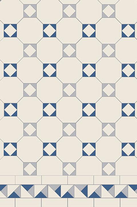 Arundel 3 Colour (Dover White/Grey/Pugin Blue)