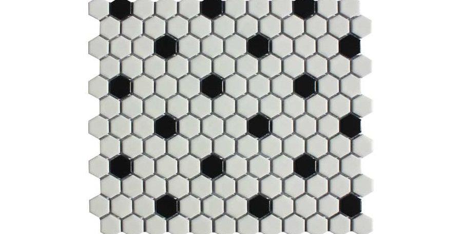 Shapes Black / White Hex