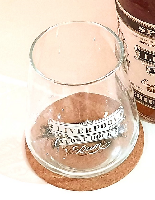 Liverpool Lost Dock Rum Glass and Coaster Set