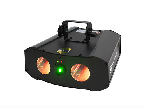 Galaxian Gem IR - Dual RGBW LED Moonflowers with Green Laser