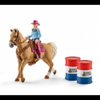 SCHLEICH Barrel Racing avec Cowgirl 41417