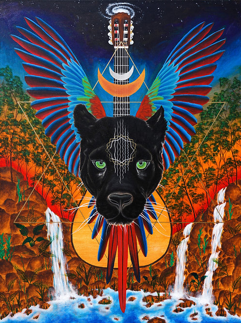 "Pantera Musica - 18x24"" canvas print"