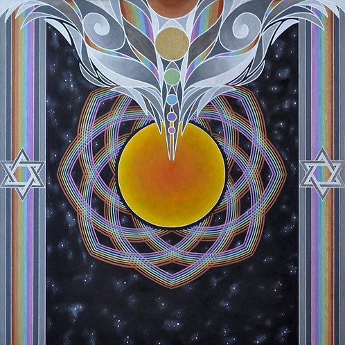 "Solar Awakening - 24x24"" canvas print"