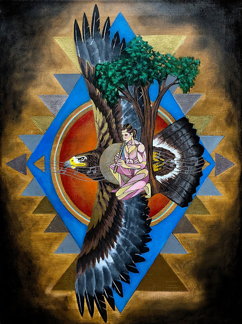 """Windsong: The Eagle Within - 18x24"""" canvas print"""