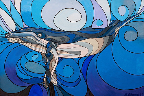 "Whale Inter-being - 16x24"" canvas print"