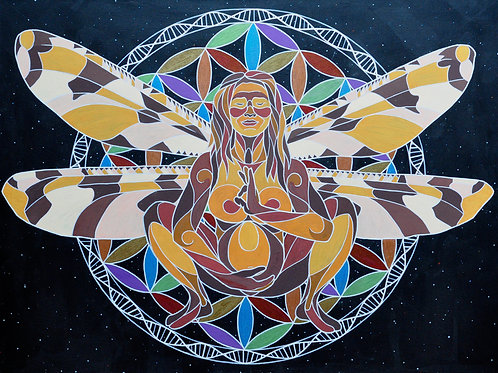 "Mamalasana - 18x24"" canvas print"