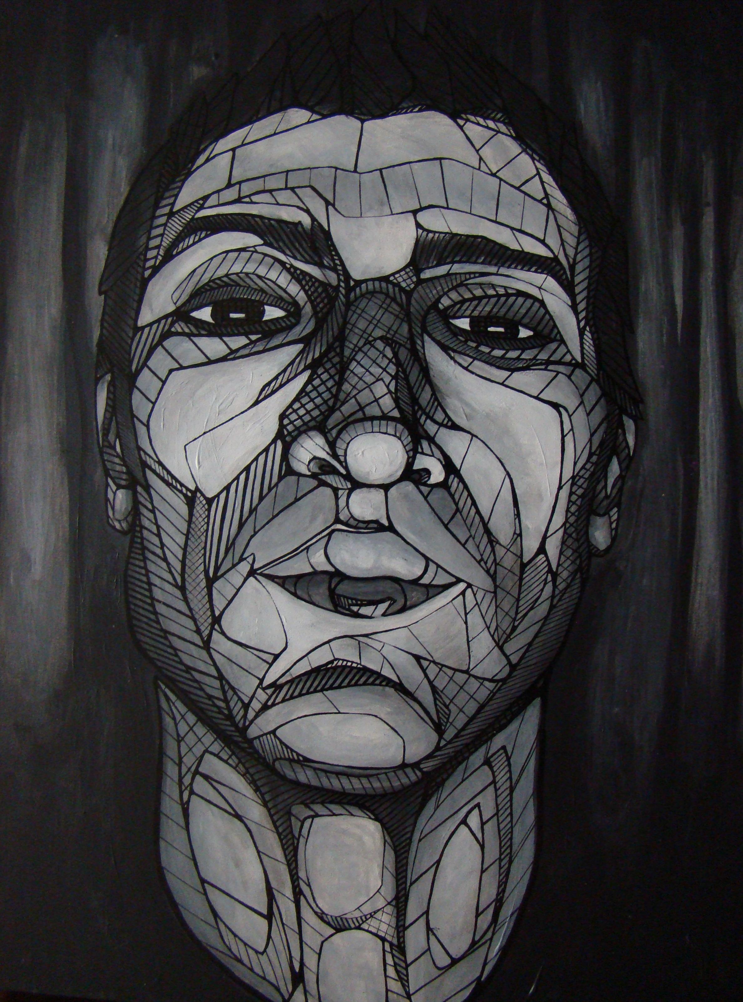 Self Portrait Grey-scale