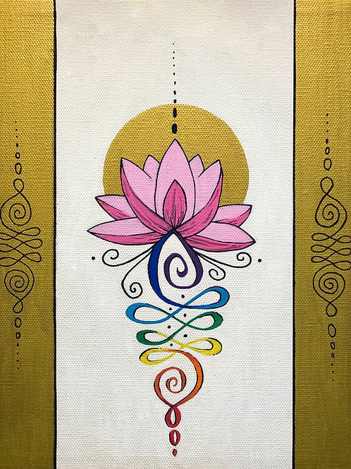 "Blossoming Lotus - 11x14"" canvas print"