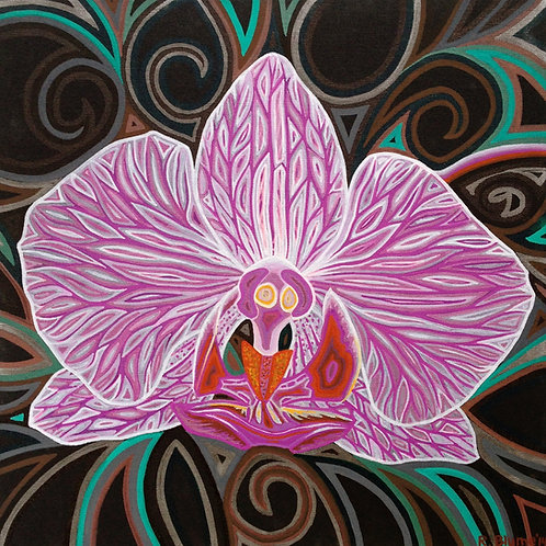 "Orchid Energy 18x18"" Original Painting"