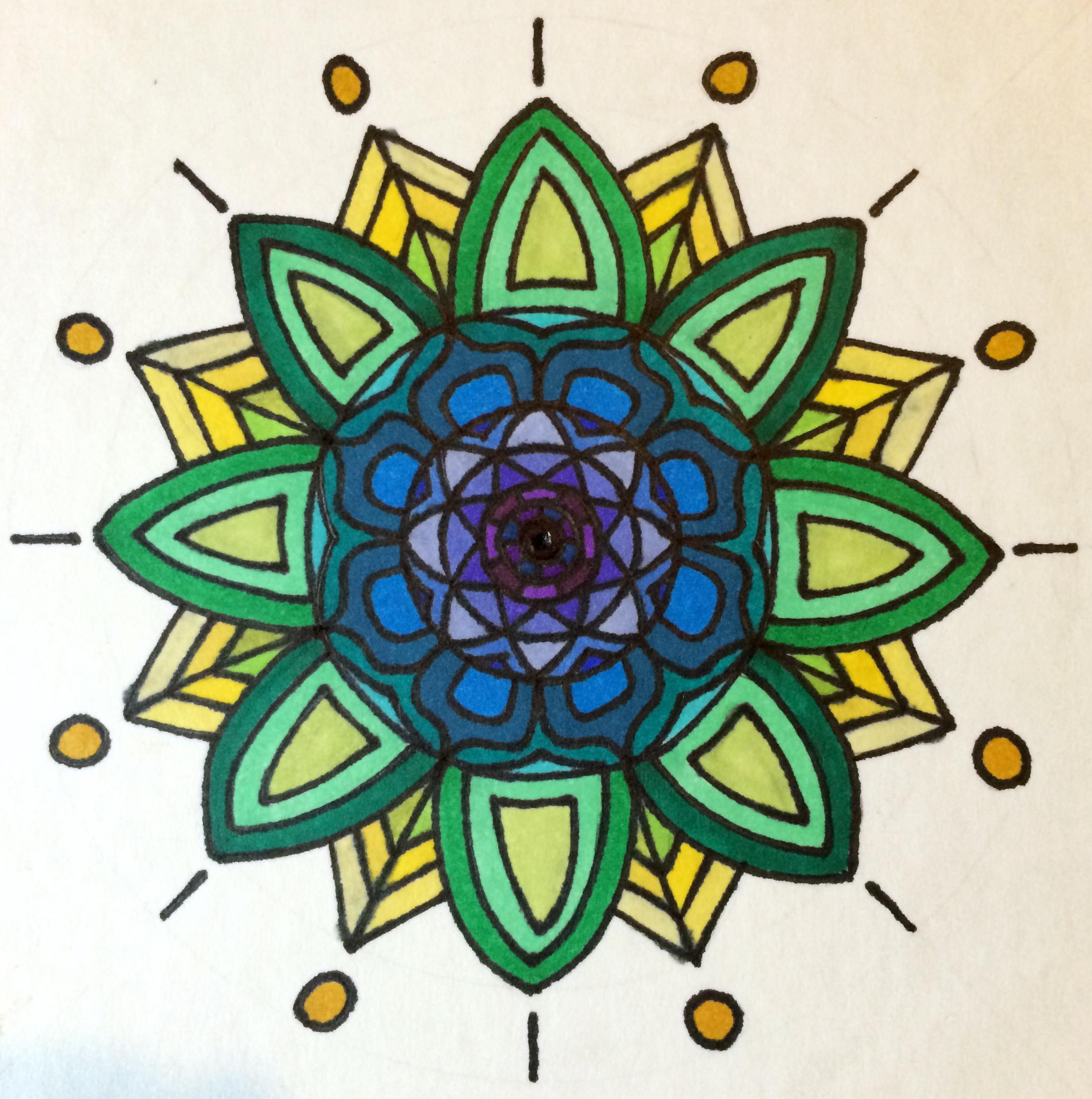 Mandala white II