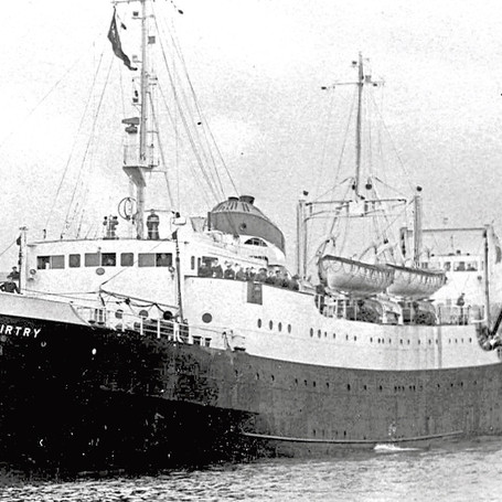 The Fairtry. Built in Aberdeen in 1953. The first purpose-built stern super trawler.
