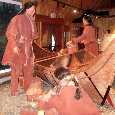 Beothuks Museum Display from Boyd's Cove Beothuk Interpetation Centre