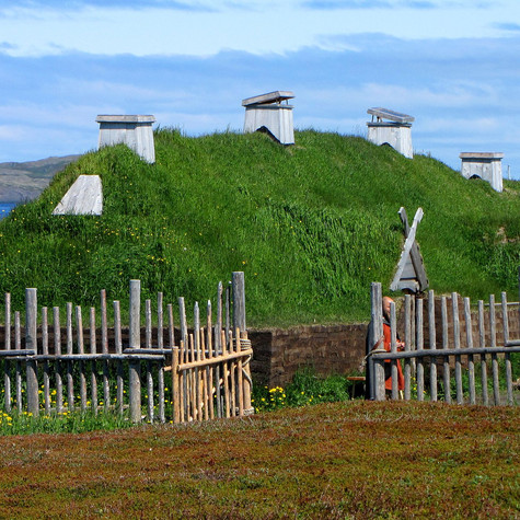 Viking settlement at L'Anse Aux Meadows: Site of first European Settlement in North America