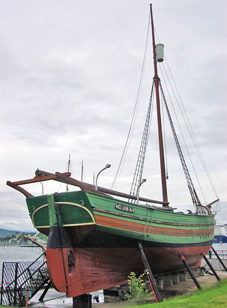 The GJOA at the Fram Museum, Oslo, Norway.