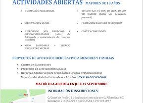cartel informativo asociación nazaret AC