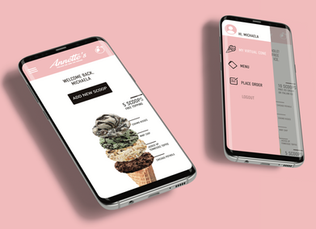 Annette's Ice Cream Rewards Program App