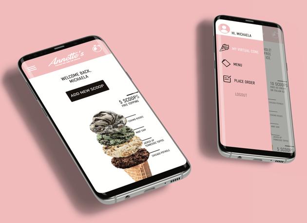 Annette's Ice Cream Rewards Program App