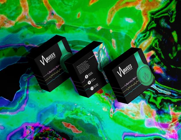 Wavees Hedache Relief Headphones Packaging