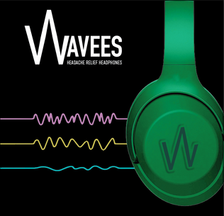 Wavees Hedache Relief Headphones Packaging