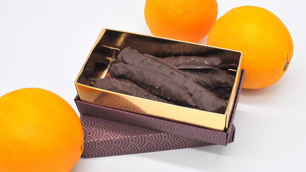 Boîte d'orangettes Chocolat Noir