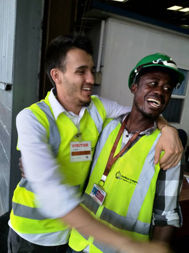 All Smiles from the Port Workers