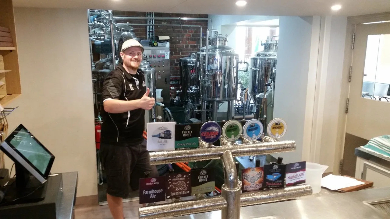 The Brewmaster @ Queenscliff Brewery on the Bellarine Craft Beer Tour from Geelong and Torquay.