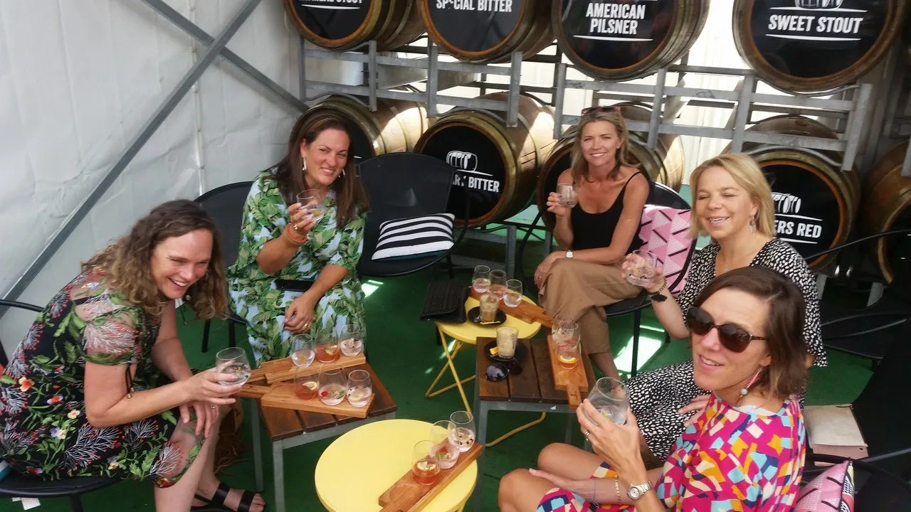 Gin tasting @ The Queenscliff Distillery and Brewhouse on the Bellarine food and drink tour from Geelong.
