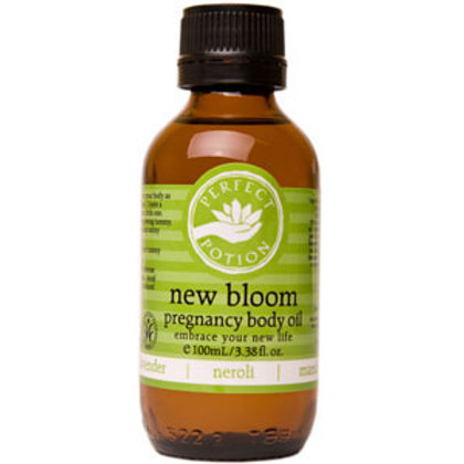 NEW BLOOM PREGNANCY BODY OIL (Lessens skin itching during pregnancy)