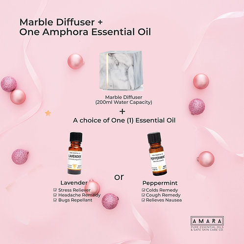 Diffuser + One Amphora (Lavender or Peppermint)