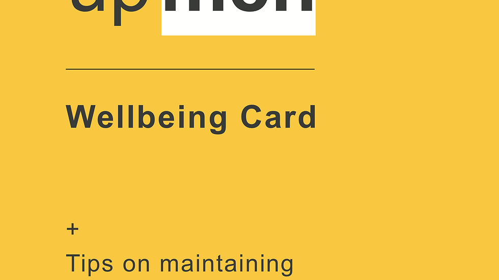 Up Men Wellbeing Cards