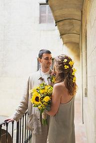 ramo de novia amarillo girasol
