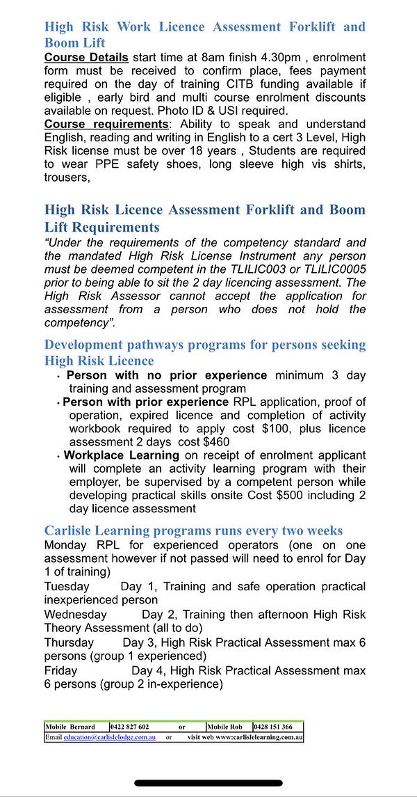 course info 2
