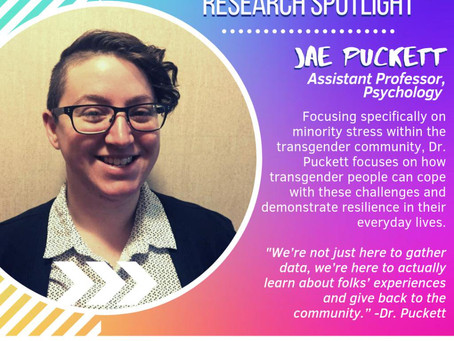 Dr. Puckett featured in MSU's Pride Month Research Spotlight