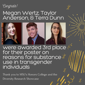Trans-ilience Team Members Megan Wertz, Taylor Anderson, and Terra Dunn were awarded 3rd place at MS