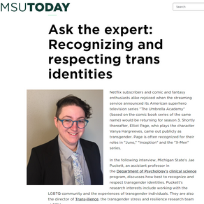 Trans-ilience director, Dr. Puckett, on how to be an affirming ally to transgender individuals